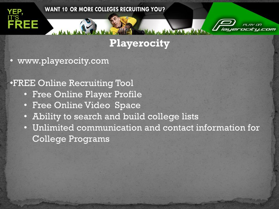 Player Profile Free Online Video Space Ability to