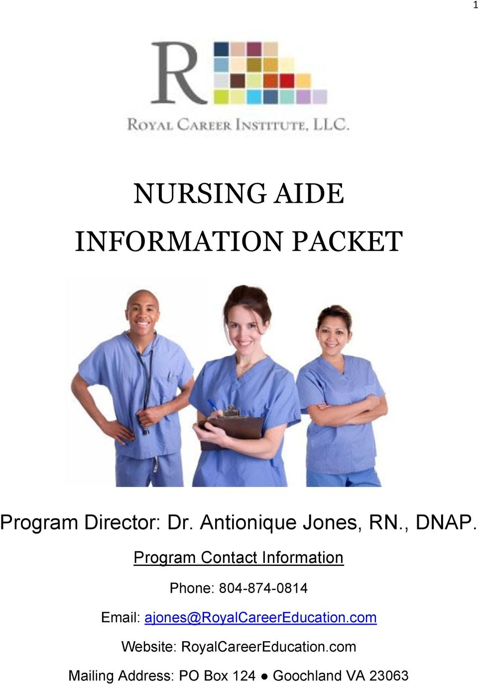 Program Contact Information Phone: 804-874-0814 Email: