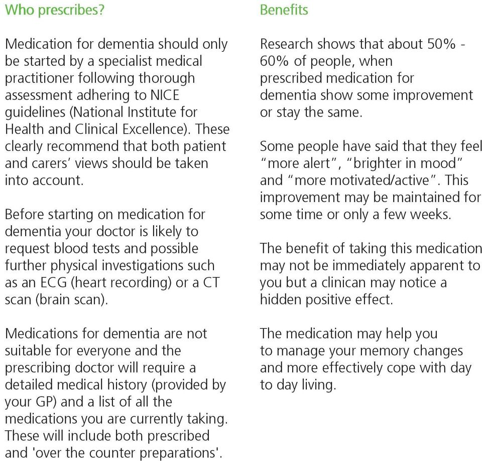 These clearly recommend that both patient and carers views should be taken into account.