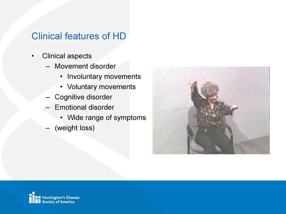 Voluntary movements Cognitive disorder