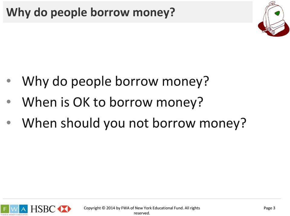 When should you not borrow