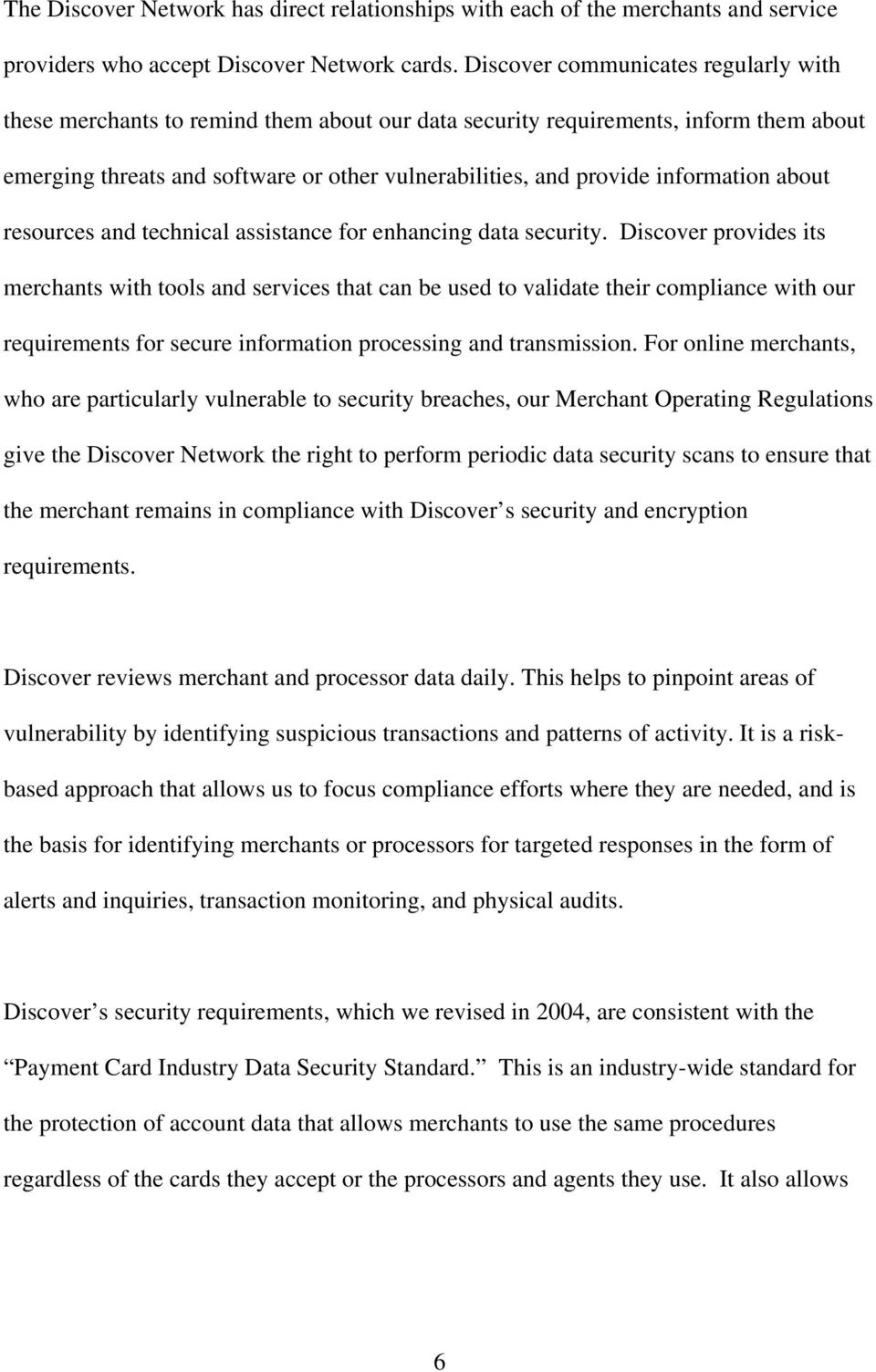 information about resources and technical assistance for enhancing data security.