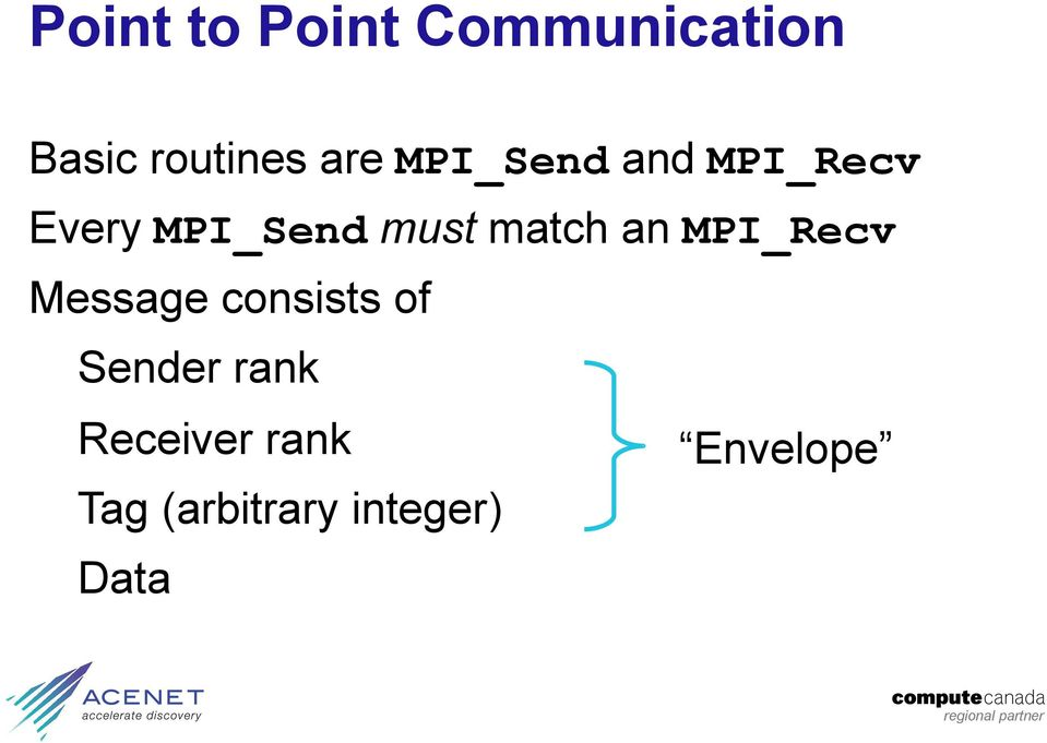 an MPI_Recv Message consists of Sender rank
