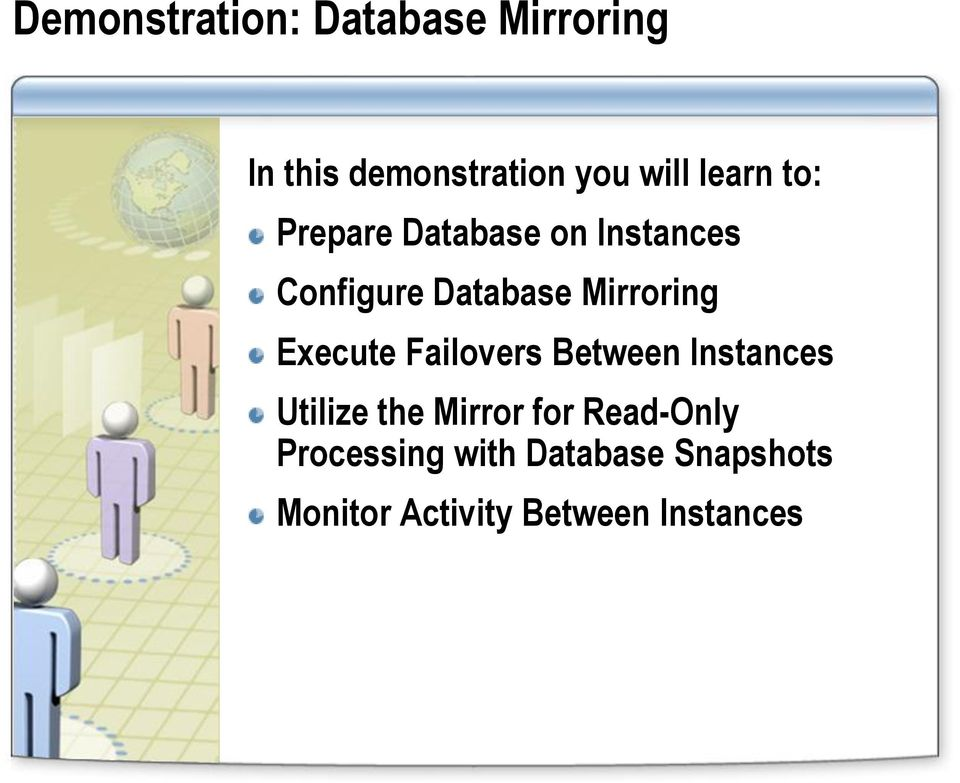 Mirroring Execute Failovers Between Instances Utilize the Mirror
