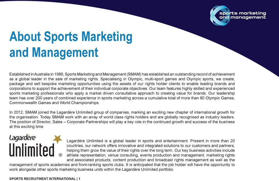 Specialising in Olympic, multi-sport games and Olympic sports, we create, package and sell bespoke marketing opportunities using the assets of our rights holder clients to enable leading brands and