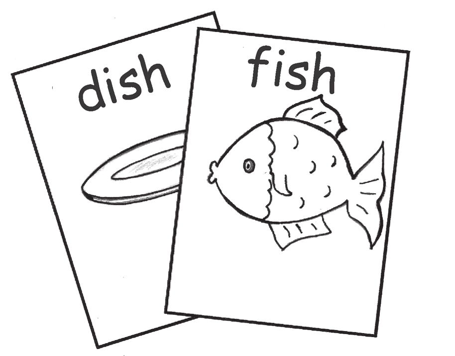 Go Rhyme Fishing To help your child create new words that rhyme with a given word ards or pieces of paper with words on them (up to 27 cards or nine sets) 1.