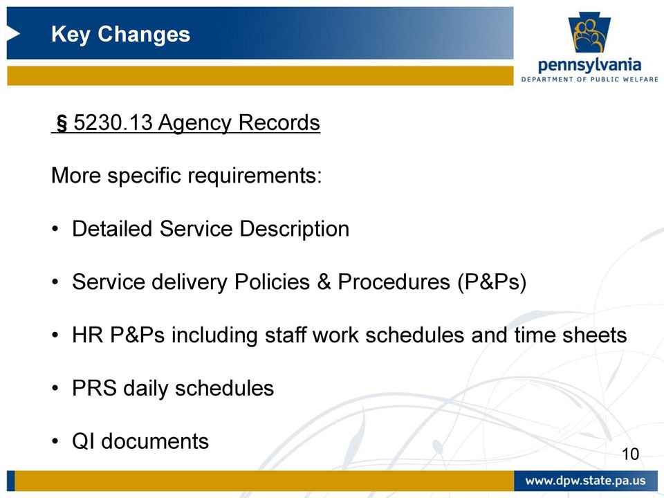 Policies & Procedures (P&Ps) HR P&Ps including staff