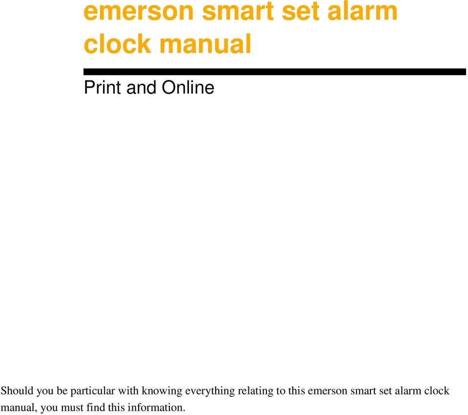 everything relating to this emerson smart set
