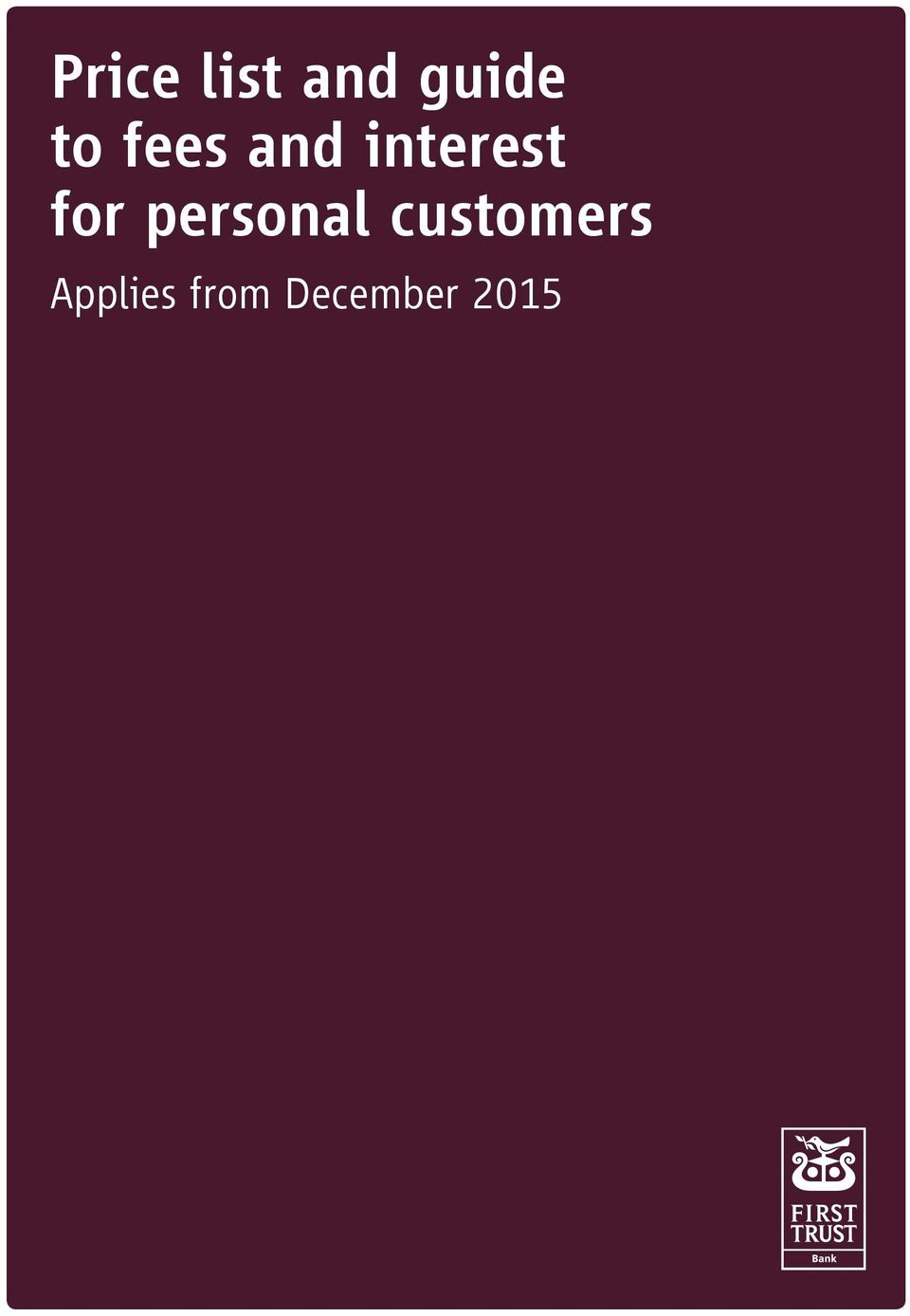 for personal customers