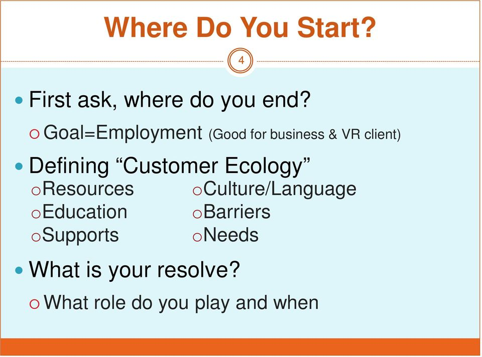 Customer Ecology oresources oeducation osupports What is