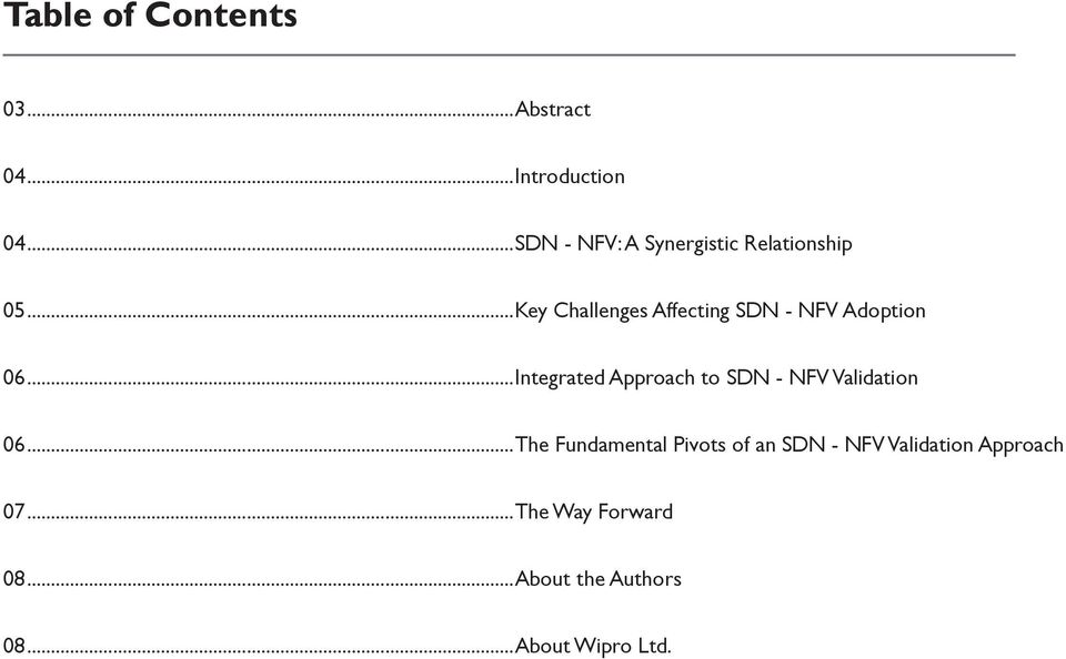 ..Key Challenges Affecting SDN - NFV Adoption 06.