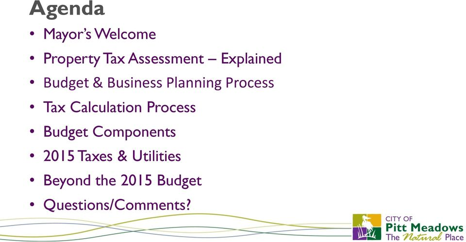Calculation Process Budget Components 2015 Taxes