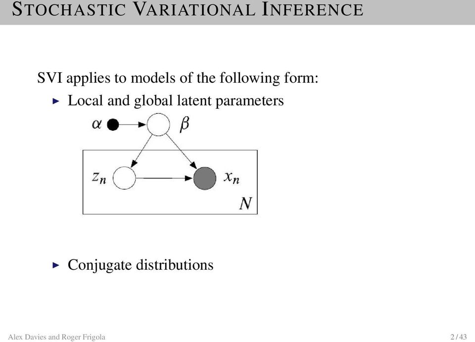 Local and global latent parameters