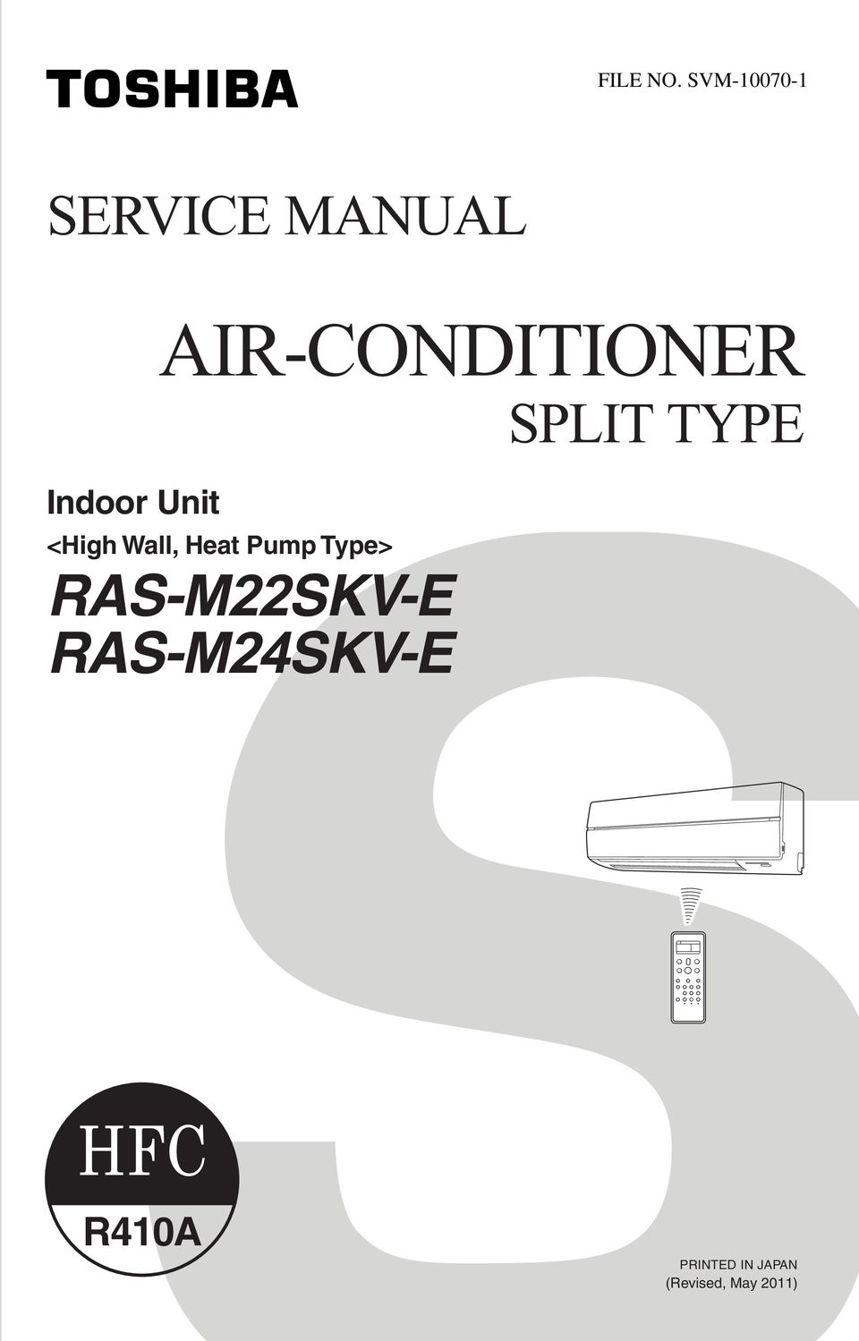 AIR-CONDITIONER SPLIT TYPE <High Wall,