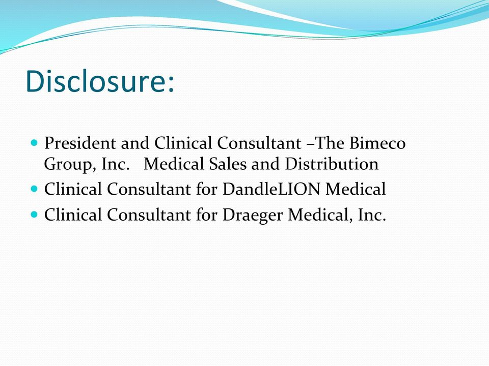 Medical Sales and Distribution Clinical