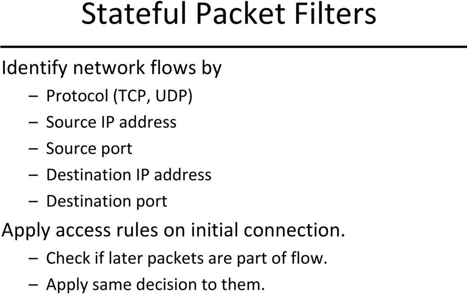 address Destination port Apply access rules on initial