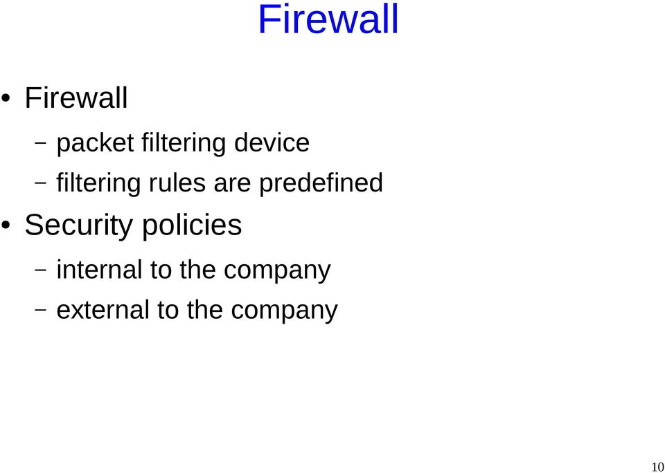 predefined Security policies