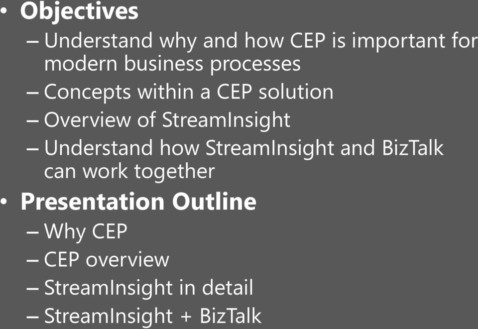 Understand how StreamInsight and BizTalk can work together Presentation