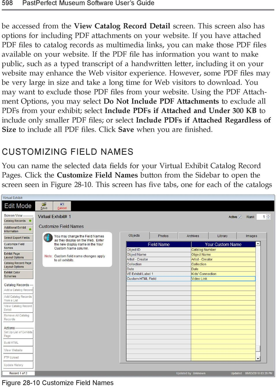 If the PDF file has information you want to make public, such as a typed transcript of a handwritten letter, including it on your website may enhance the Web visitor experience.