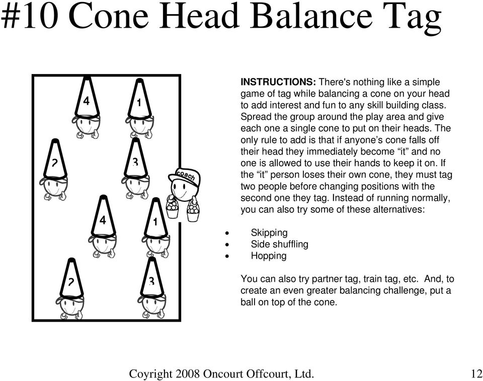 The only rule to add is that if anyone s cone falls off their head they immediately become it and no one is allowed to use their hands to keep it on.