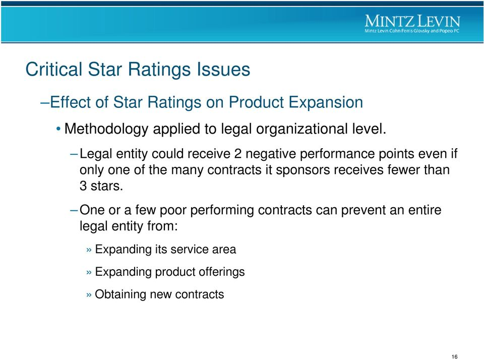 Legal entity could receive 2 negative performance points even if only one of the many contracts it