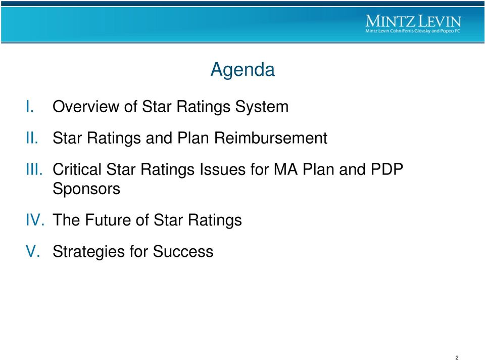 Critical Star Ratings Issues for MA Plan and PDP