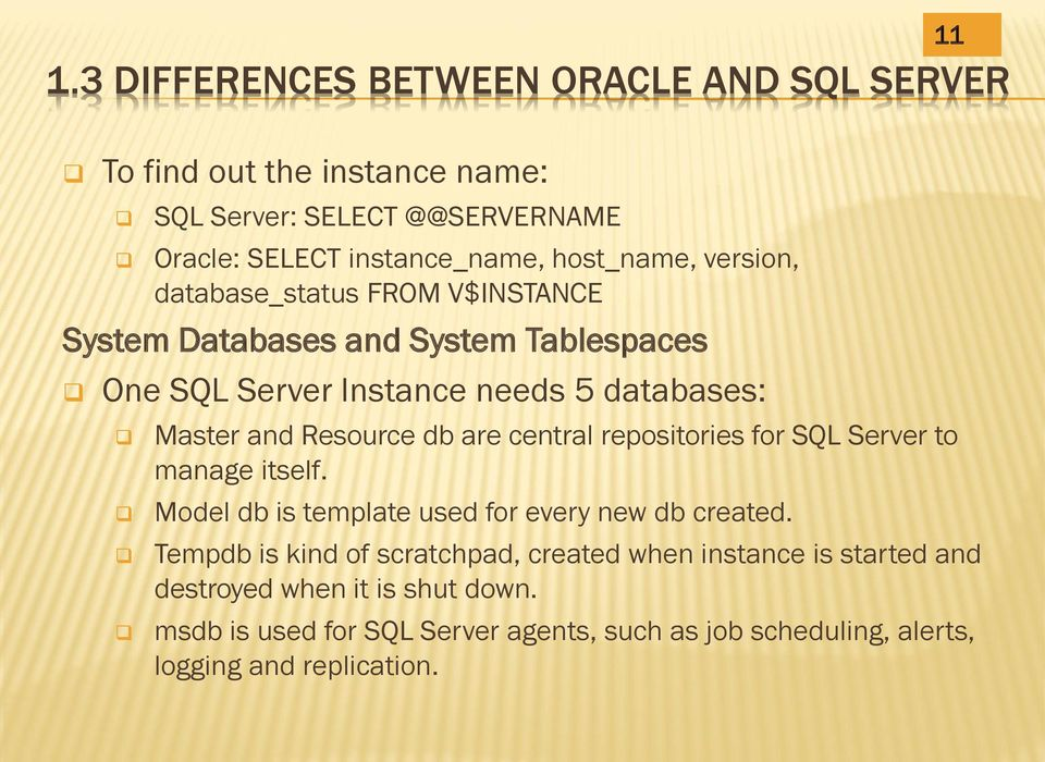 Resource db are central repositories for SQL Server to manage itself. Model db is template used for every new db created.
