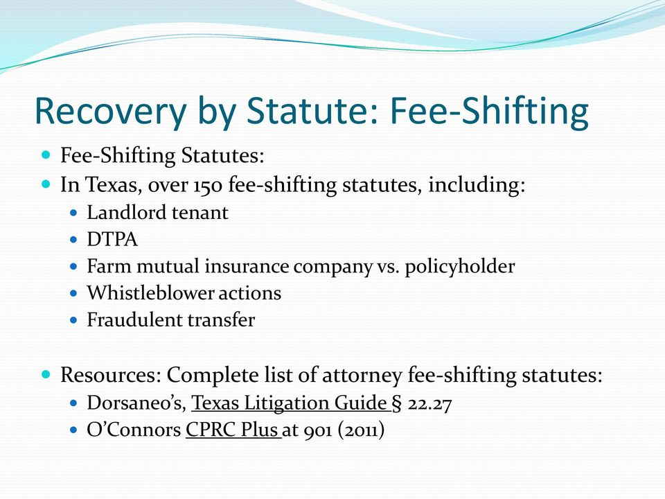 policyholder Whistleblower actions Fraudulent transfer Resources: Complete list of