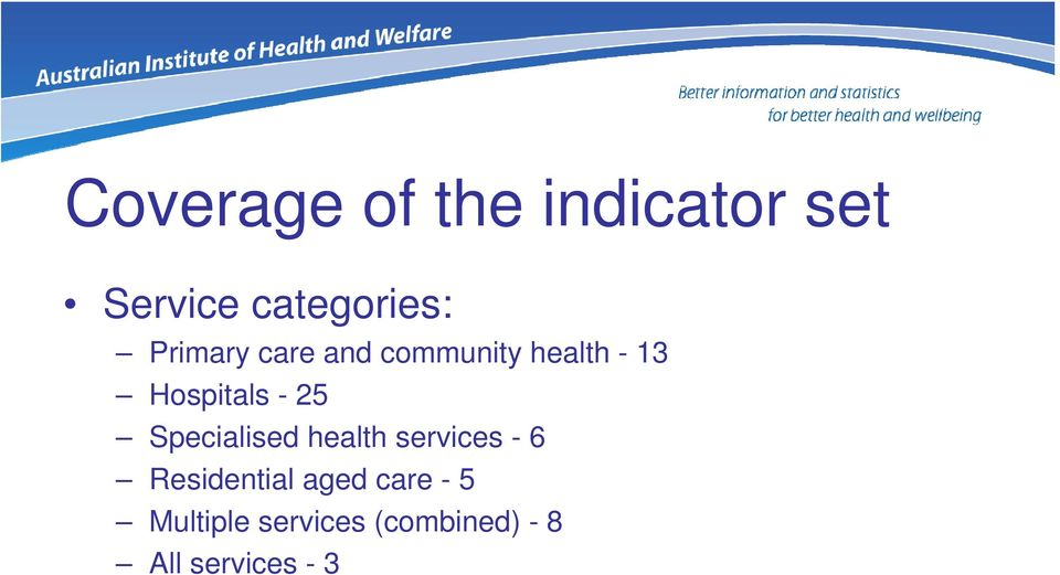 25 Specialised health services - 6 Residential aged