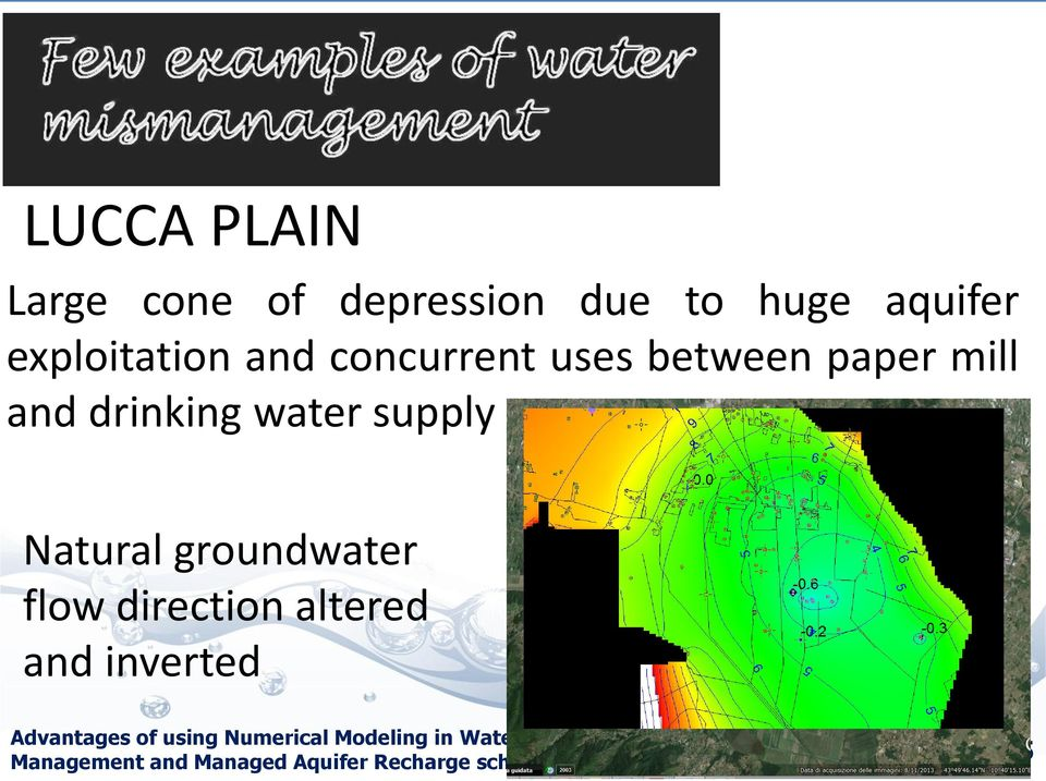 groundwater flow direction altered and inverted Advantages of using Numerical
