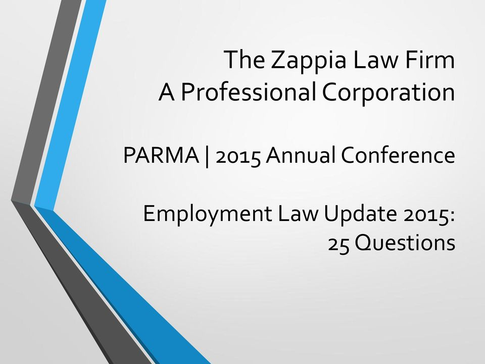 PARMA 2015 Annual Conference