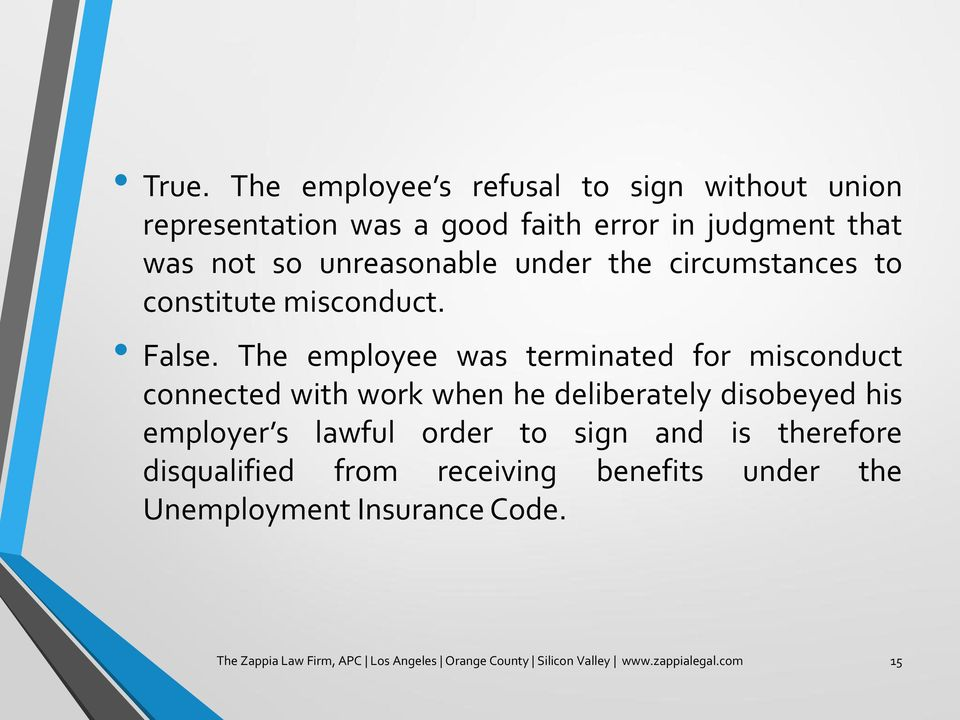 The employee was terminated for misconduct connected with work when he deliberately disobeyed his employer s lawful order to
