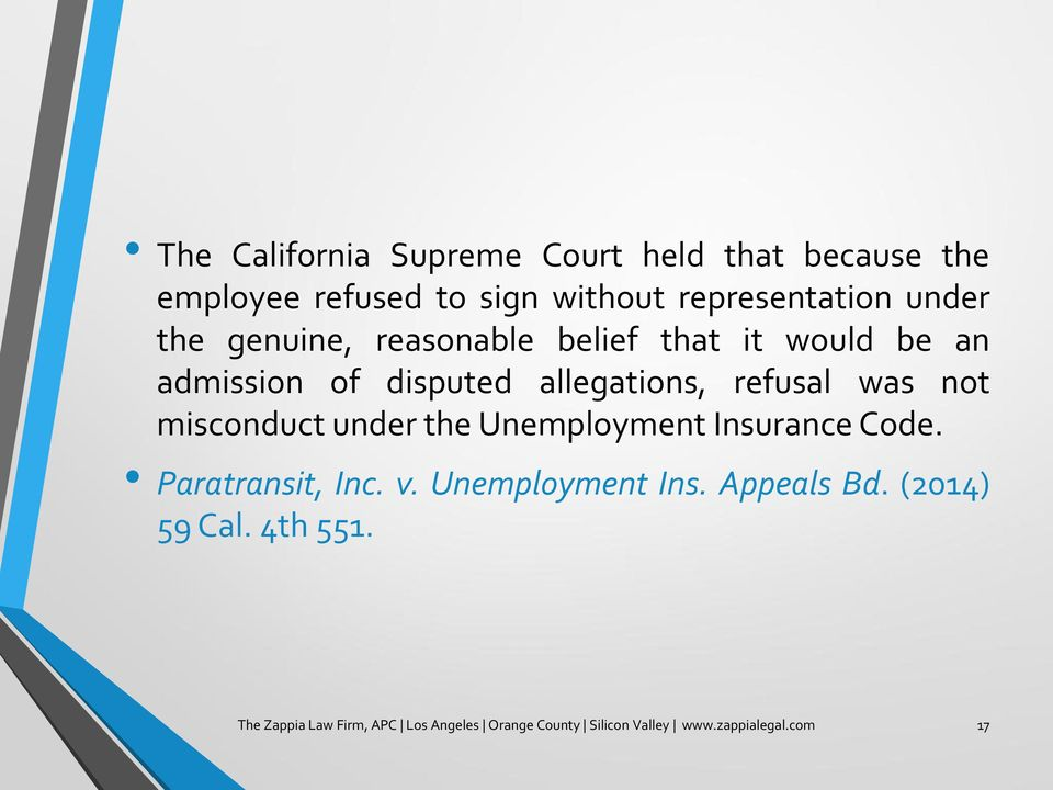 misconduct under the Unemployment Insurance Code. Paratransit, Inc. v. Unemployment Ins. Appeals Bd.