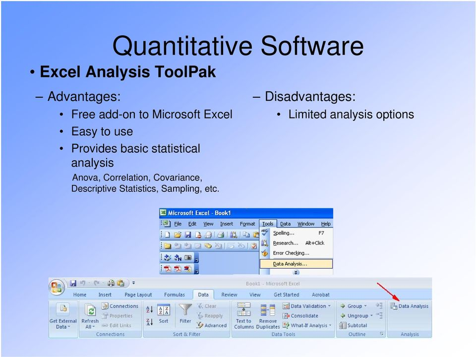 statistical analysis Anova, Correlation, Covariance,