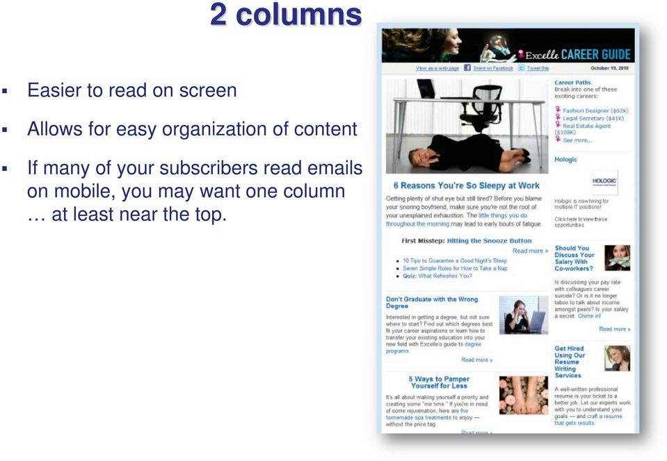 of your subscribers read emails on mobile,