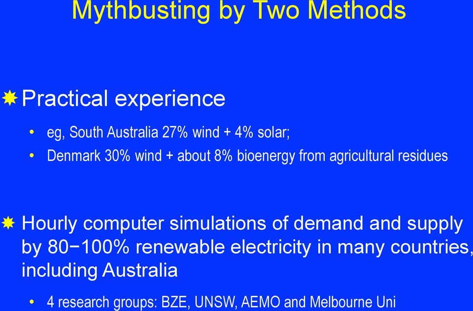 computer simulations of demand and supply by 80 100% renewable electricity in