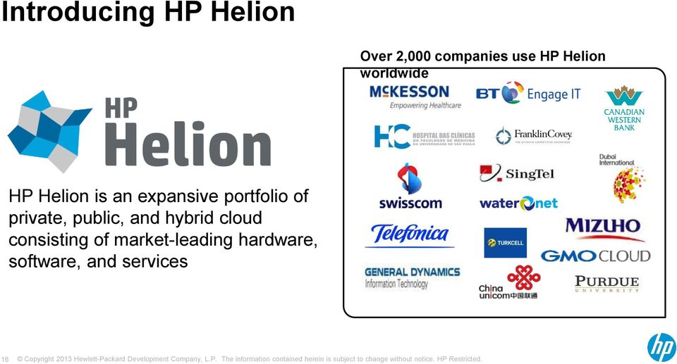 portfolio of private, public, and hybrid cloud