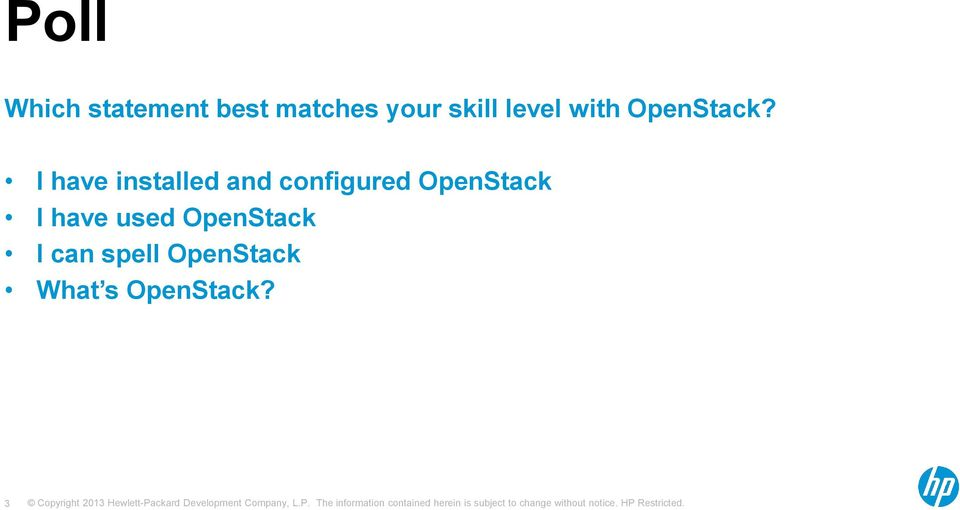 I have installed and configured OpenStack