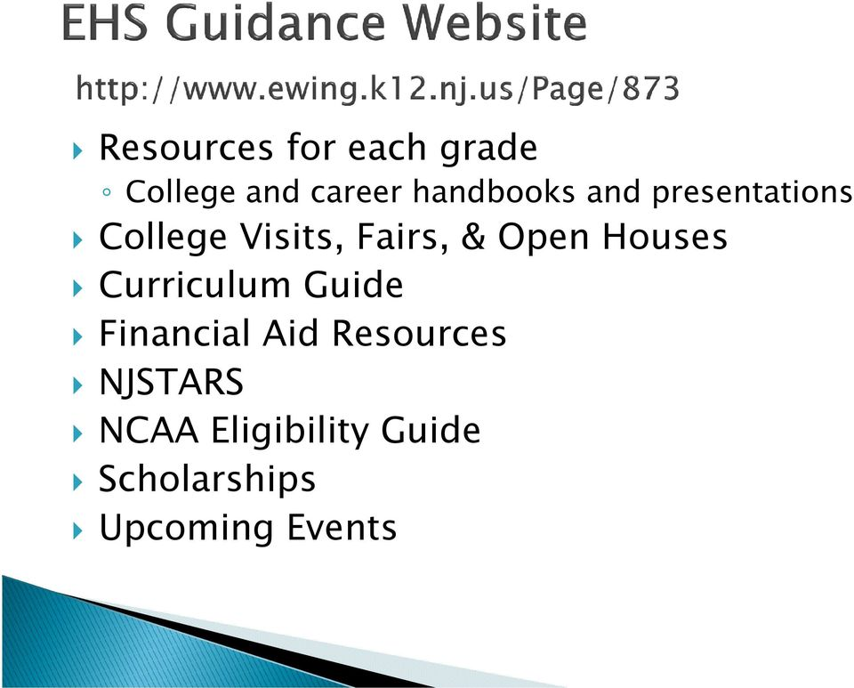 Open Houses Curriculum Guide Financial Aid Resources