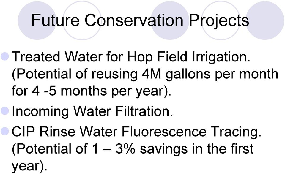 (Potential of reusing 4M gallons per month for 4-5 months per
