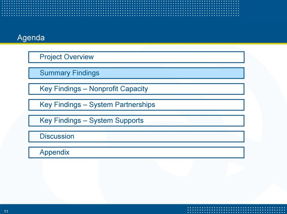 Capacity Key Findings System