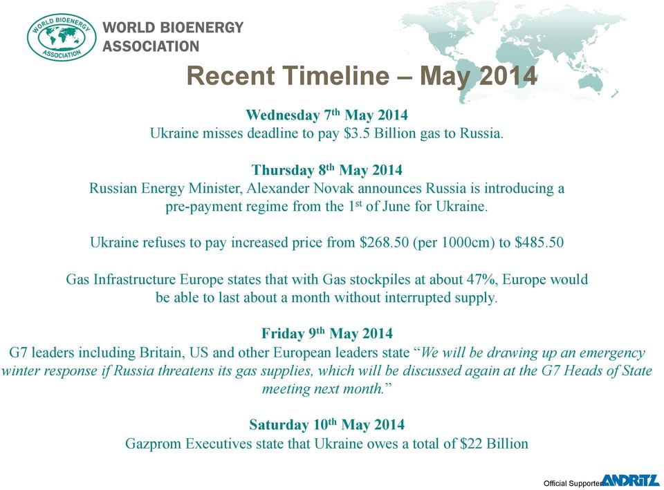 Ukraine refuses to pay increased price from $268.50 (per 1000cm) to $485.