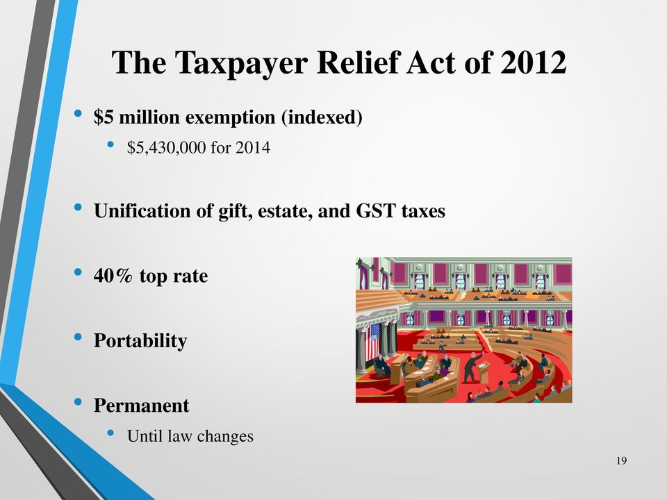 Unification of gift, estate, and GST taxes