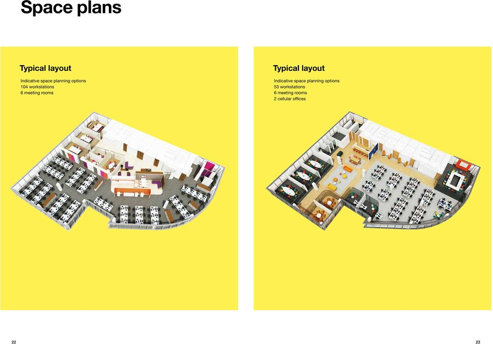 Typical layout Indicative space planning options