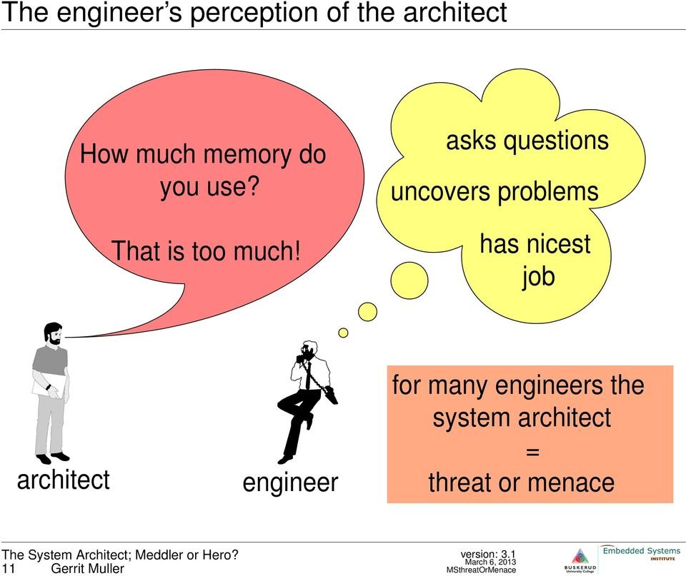 has nicest job architect engineer for many engineers the