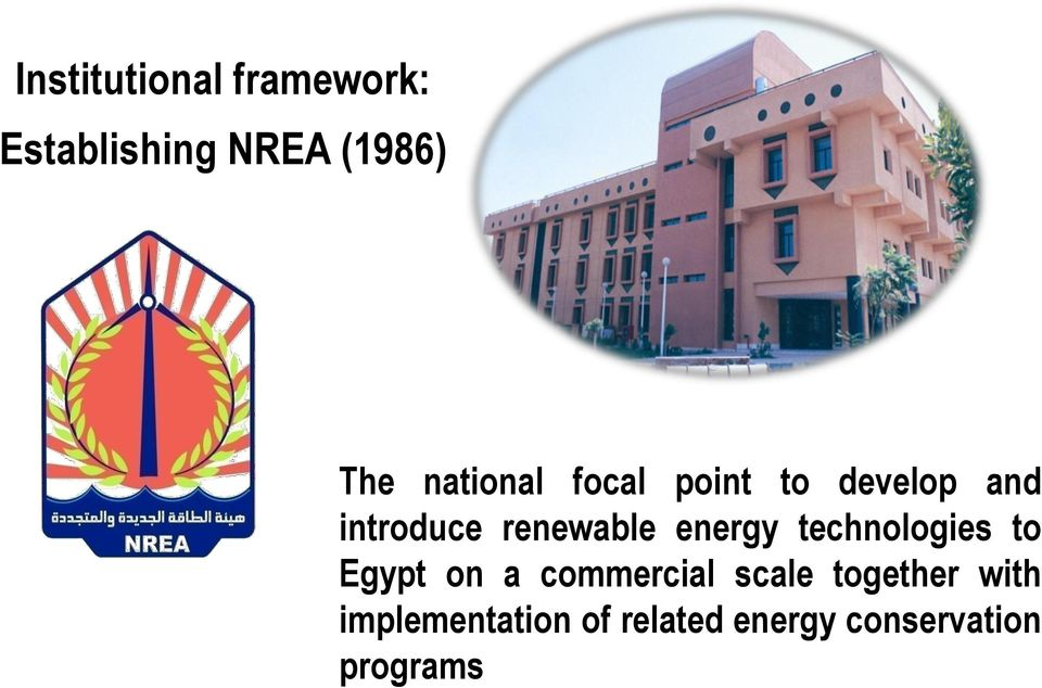 energy technologies to Egypt on a commercial scale