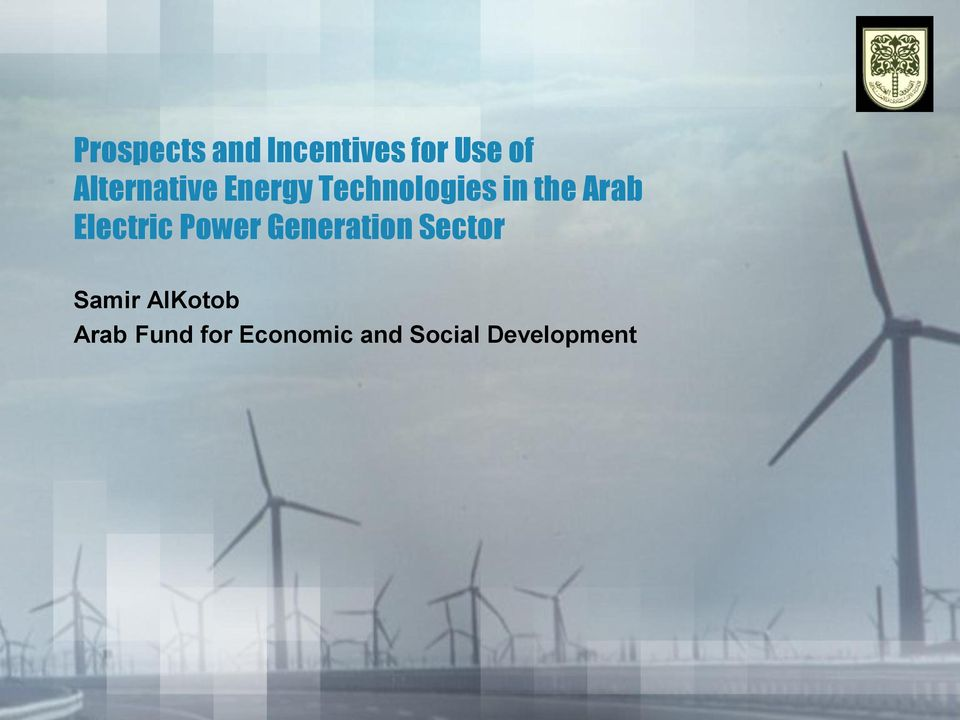 Arab Electric Power Generation Sector