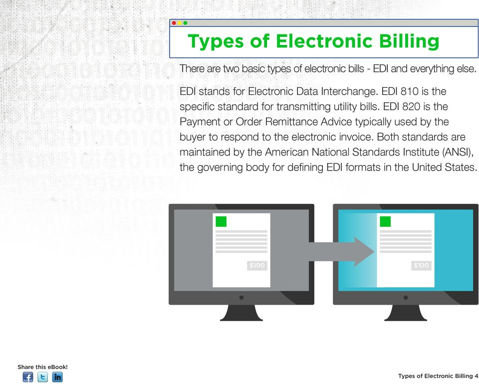 EDI 820 is the Payment or Order Remittance Advice typically used by the buyer to respond to the electronic invoice.