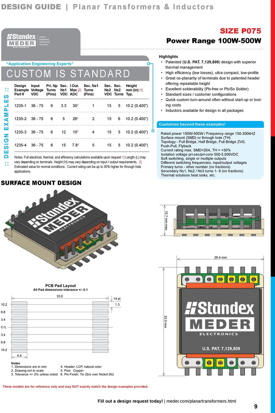 Planar Design Magnetics Partner Solve Deliver Pdf Series 30 Sip Reed Relay Circuit Height H May Vary Depending On Input Output Requirements 2 Estimated