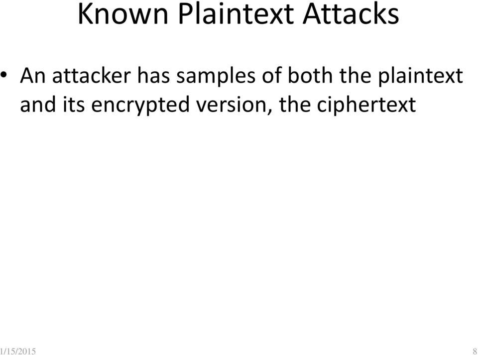 the plaintext and its